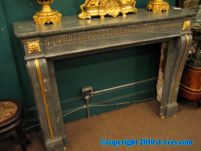 Ormolu Gilded Marble Fireplace Surround Mantelpiece 19th Century