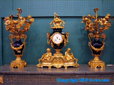 Louis XVI 3 Piece Garniture Gilded Ormolu French 19th Century