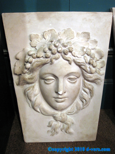 John DeLorean Commissioned Sculpture Roman Face with Grapes