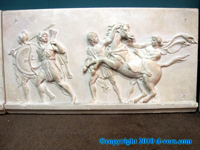 John DeLorean Commissioned Sculpture Roman Soldiers Battle