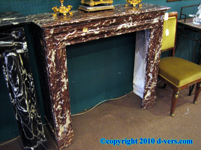 Louis Philippe Deep Rouge Marble Fireplace Surround Mantelpiece