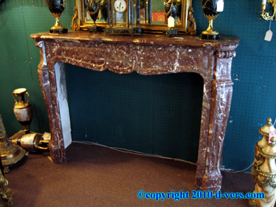 Louis XV Fireplace Surround Mantelpiece Rouge Marble French