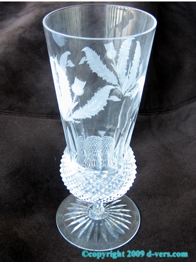 EDINBURGH Thistle Crystal Champagne Flute Glass
