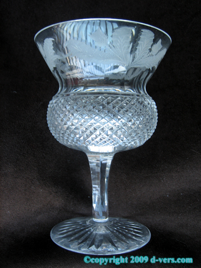 EDINBURGH Thistle Crystal Glass Water Goblet