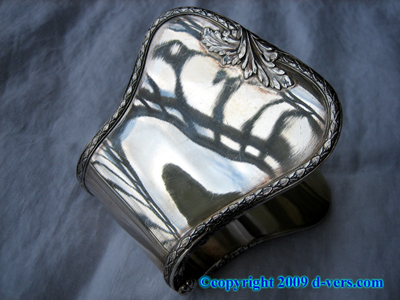 French Asparagus Cuff Pick Up Sterling Silver Rare Antique
