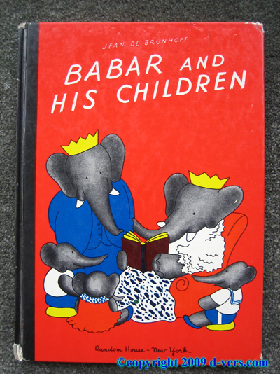 BABAR AND HIS CHILDREN Jean De Brunhoff 1938 Antique Jacket
