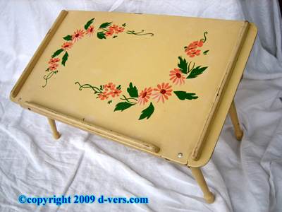 General Wood Products Co. Bed Tray 1930s Painted Wood