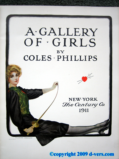 Coles Philips A GALLERY OF GIRLS Antique 1911 Book