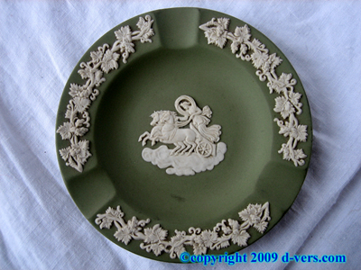 Wedgewood Ashtray Pin Dish Green Jasperware 1950s