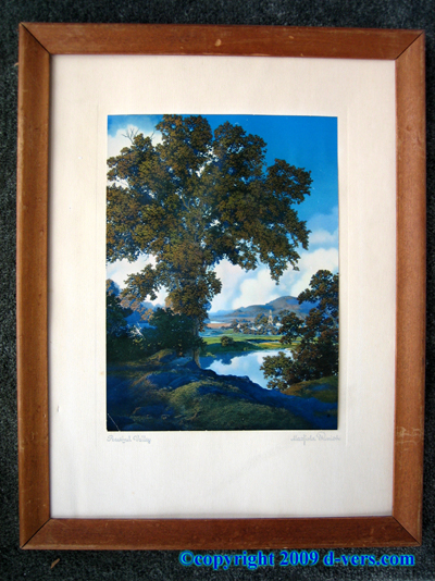 MAXFIELD PARRISH Peaceful Valley Print Brown Bigelow Calendar