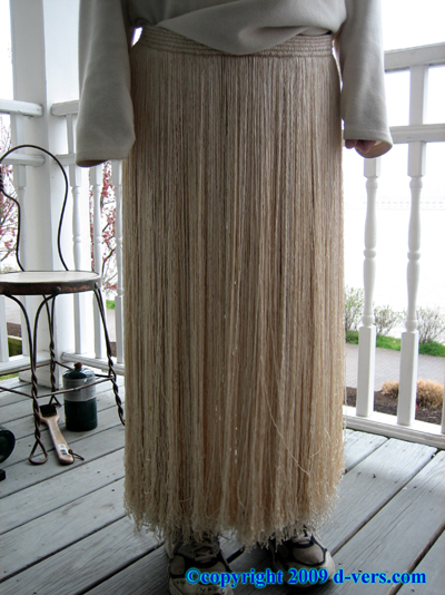 SILK HULA Skirt Grass Skirt Womens 1950s American Antique