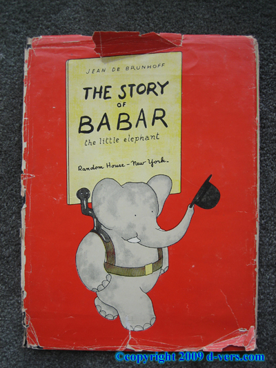 BABAR The Story Of Babar 1933 Jean De Brunhoff Original Antique