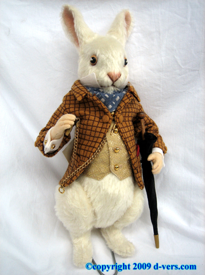 R. John Wright Alice In Wonderland White Rabbit Doll NIB