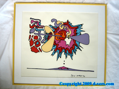 Pop Art Peter Max Winter Sunshine RARE Silkscreen Serigraph