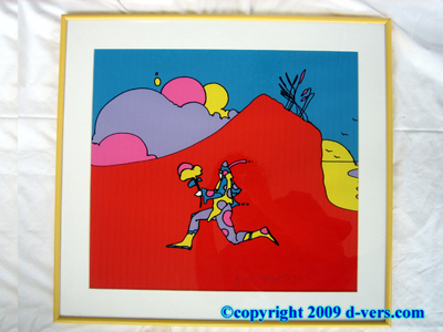Pop Art Peter Max Coming Into Red RARE Silkscreen Serigraph