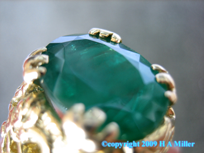 18K Gold 9.67 ct Emerald Gentleman's Ring Dragon Motif Custom