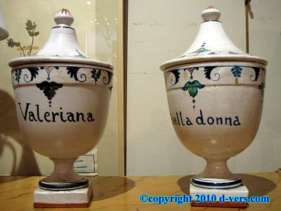 Apothecary Covered Jars Pair Ceramic French 19th Century