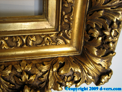 Baroque Frame Gilded Hand Carved French 20th Century