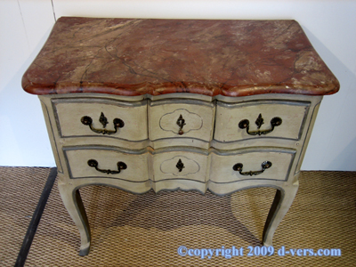 Rococo Louis XV Chest 3 Drawer French 20th Century