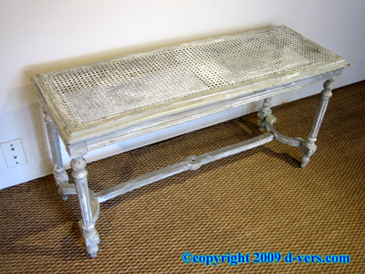 Louis XVI Canned Bench Fluted Legs French 19th Century