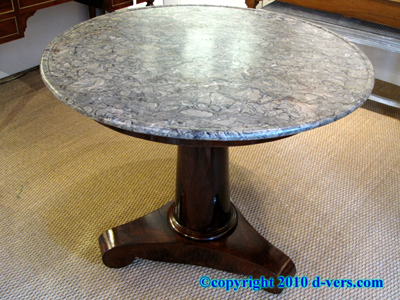 First Empire Gueridon Marble Top French 19th Century