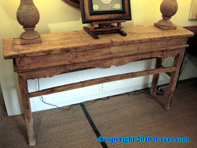 Chinese Altar Table Elm Wood 19th Century Hand Carved