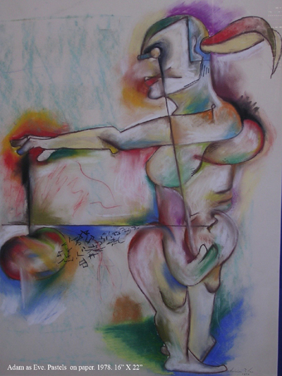 AVSHALOM EITAN Adam As Eve Original Illustration Pastels