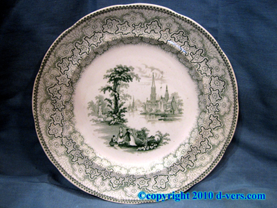 Fell & Co Newcastle Transferware Dinner Plates Set of 6 England