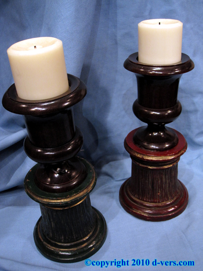 Urn Candle Holder Pair English 20th Century