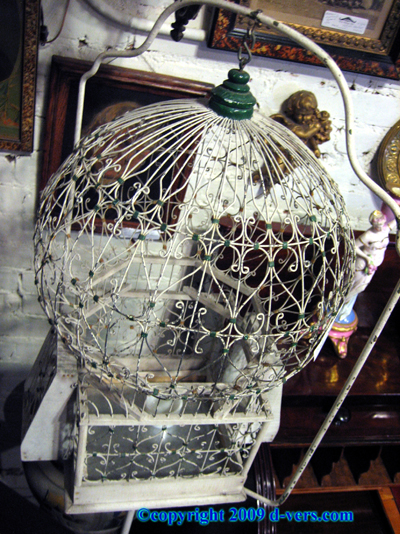 ART DECO Birdcage White 1930