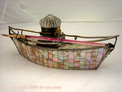 Grand Tour Inkwell Mother of Pearl 19th C. French
