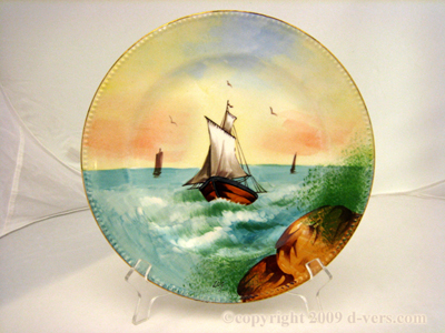 LIMOGE Plate Hand Painted Signed c 1905 France