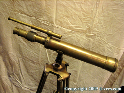 TELESCOPE Antique Thomas J. Evans Adjustable Bayonet Feet 19th C