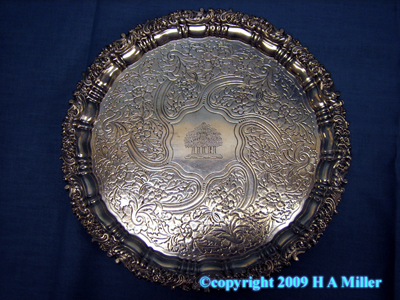 Georgian George IV Footed Salver English Sterling Silver