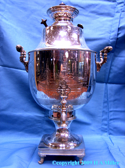 STERLING SILVER Russian Style Samovar Working Tap