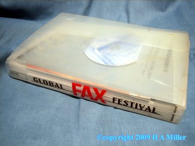 DAVID HAMMONS Global Fax Festival Binder Limited Edition