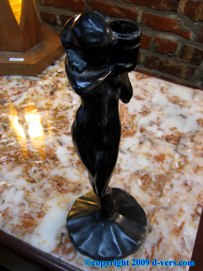 ART DECO Frankart / Nuart Nude Figural Candle Holder 1922 RARE