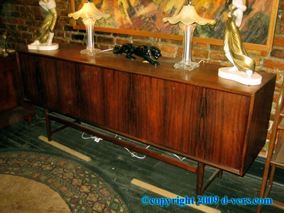 Mid Century Credenza ROSEWOOD NORWAY Locking 1971