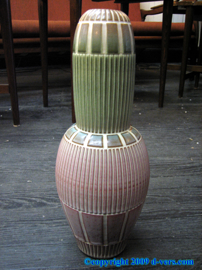 Vase Two Color 1940s Antique Signed