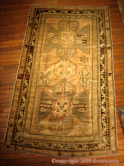 ANATOLIAN Carpet Turkish Rug Beiege 1950s
