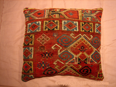 ERSARI Rug Remnant Pillow Turkish Wool Afghan