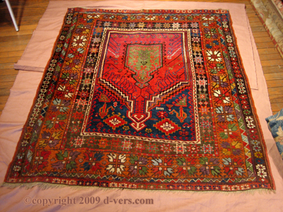 TURKISH Prayer Rug Mudjur c. 1900