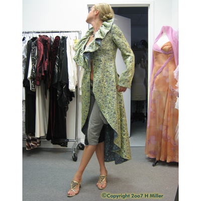 Haute Couture Custom Evening Coat Pure Silk