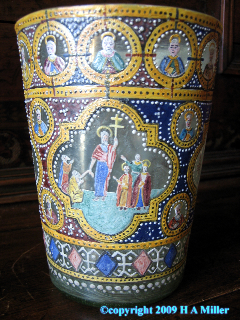 Russian Christian Hand Painted Beaker Enamelled 19th Century