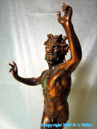 Bronze Dancing Satyr Figure 20th Century Mythology