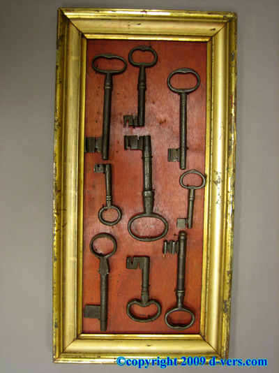 SKELETON KEY Set 16 Gate Dungeon Keys Antique 18th & 19th C.