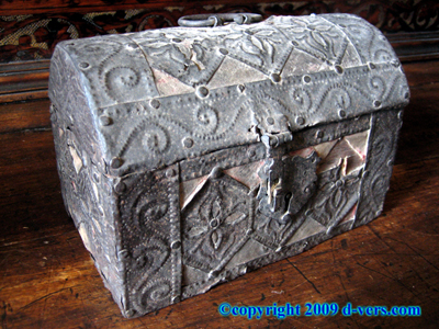 MONEY BOX Casket Italian Venetian 16th C 17th C Antique Rare