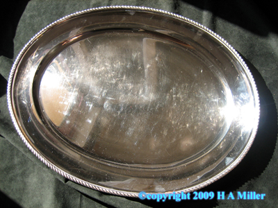 BELLINI Italian Continental Silver Serving Tray Meat Platter