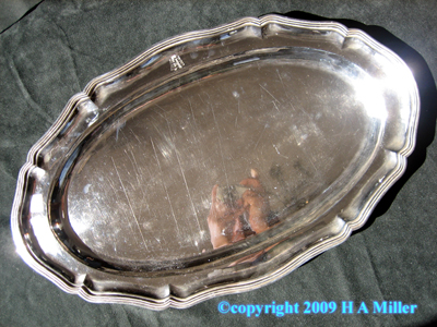European Continental Silver Meat Serving Tray Platter