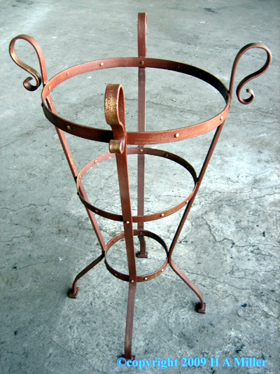 CUSTOM WROUGHT IRON Pottery Holder Terra Cotta Outdoor